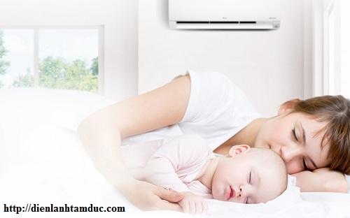 Cách sử dụng máy lạnh cho trẻ sơ sinh