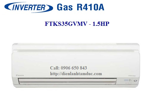 Máy lạnh DAIKIN INVERTER 1.5HP. Model: FTKS35GVMV. Gas R410A
