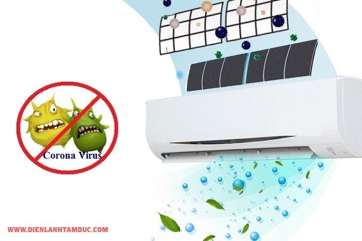 Vệ sinh máy lạnh bằng chất diệt khuẩn phòng chống virus corona